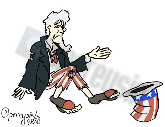 Uncle Sam is in trouble