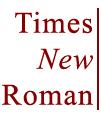 Geri gel Times New Roman!